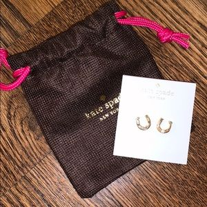 Kate spade horseshoe stud earrings